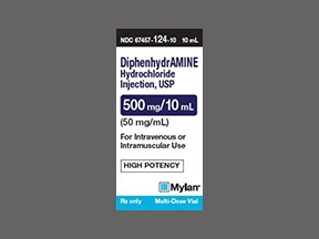 DIPHENHYDRAMINE 50MG/ML 10ML