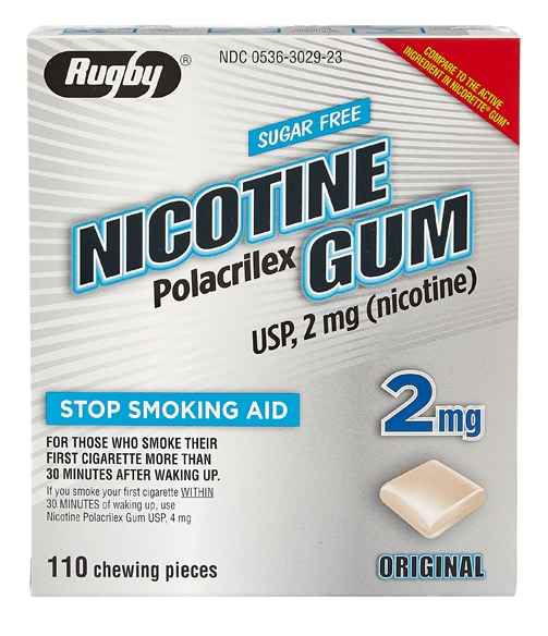 NICOTINE GUM 2MG NF [RUGBY] - First Veterinary Supply